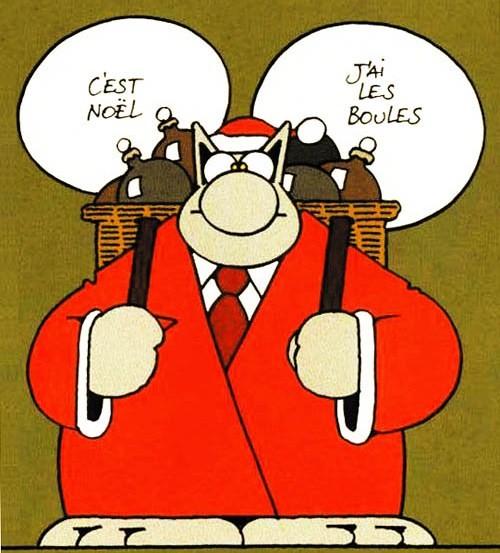 Le chat Geluck Père Noël