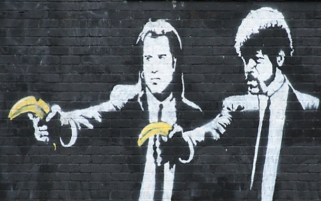 Banksy Pulp Fiction Banana