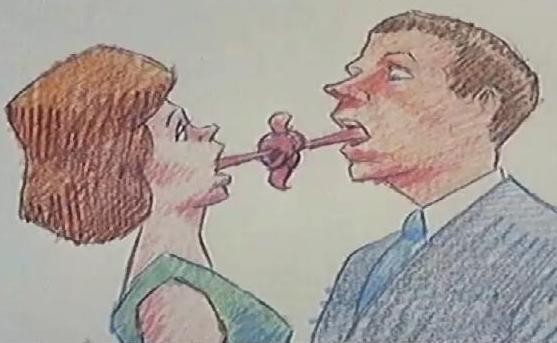 Bill Plympton, How To Kiss (court métrage), 1988.