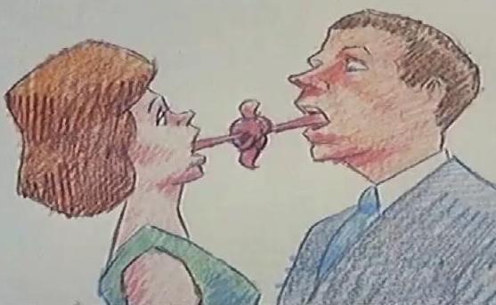 Bill Plympton, How To Kiss (court métrage), 1988.