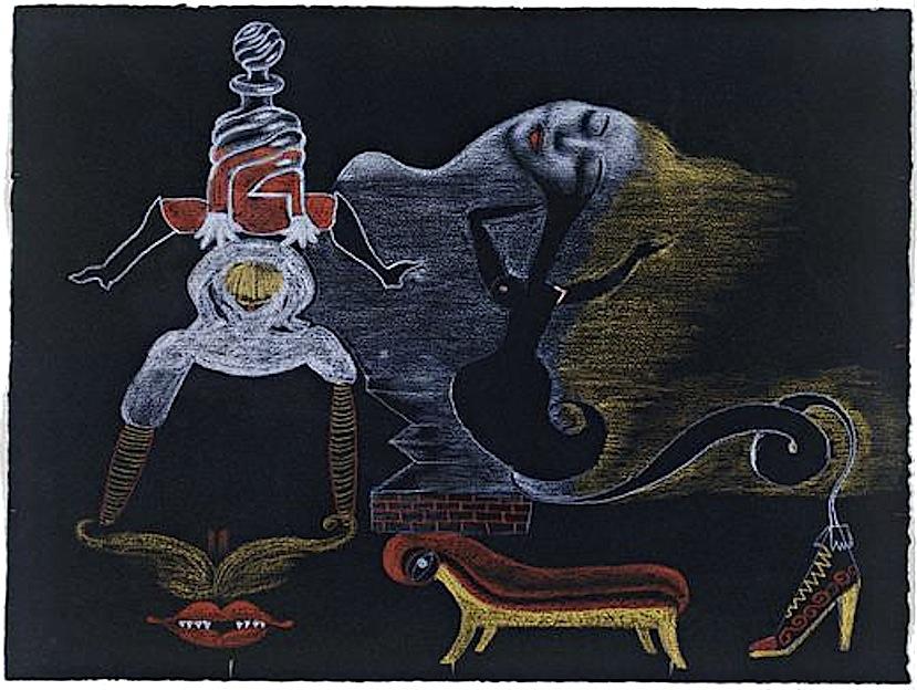 André Breton, Valentine Hugo, Greta Knutson et Tristan Tzara, Cadavre  ~ Pute Bois De Vincennes