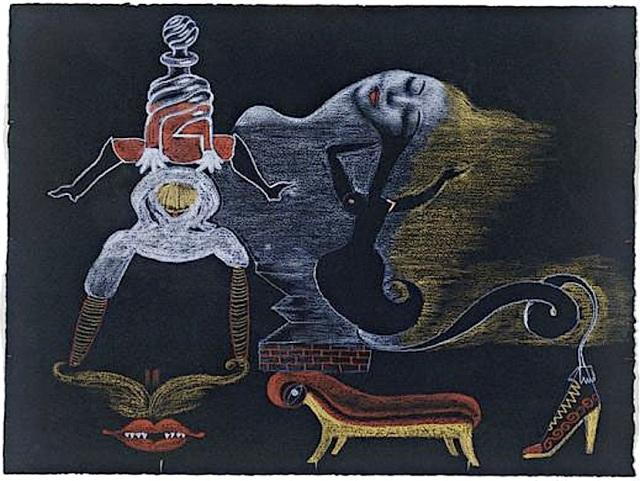 André Breton, Valentine Hugo, Greta Knutson et Tristan Tzara, Cadavre exquis, 1933