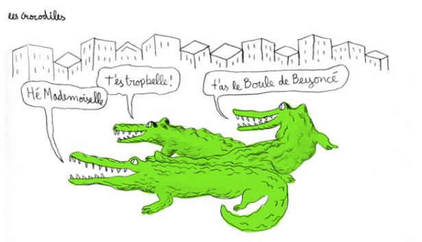 """Extrait de l'excellent """"Projet Crocodiles"""" par Thomas Mathieu. http://projetcrocodiles.tumblr.com"""